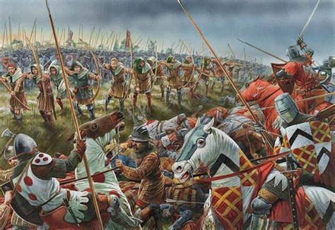 Often mistaken for the battle of Crecy - this is actually